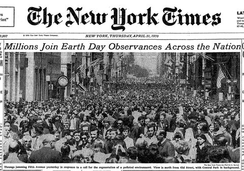 Front Page of The New York Times, April 23, 1970