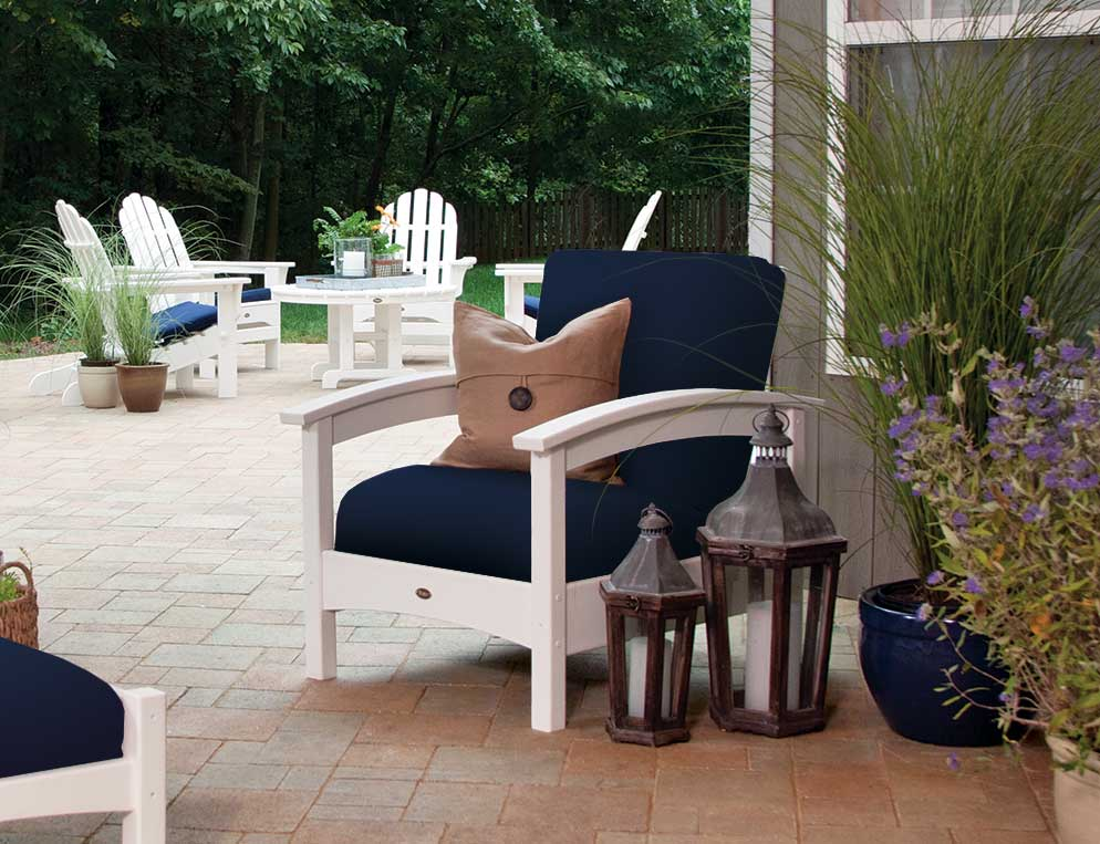 rocker club yacht chair rocking furniture piece recycled progressive plastic outdoor products trex set