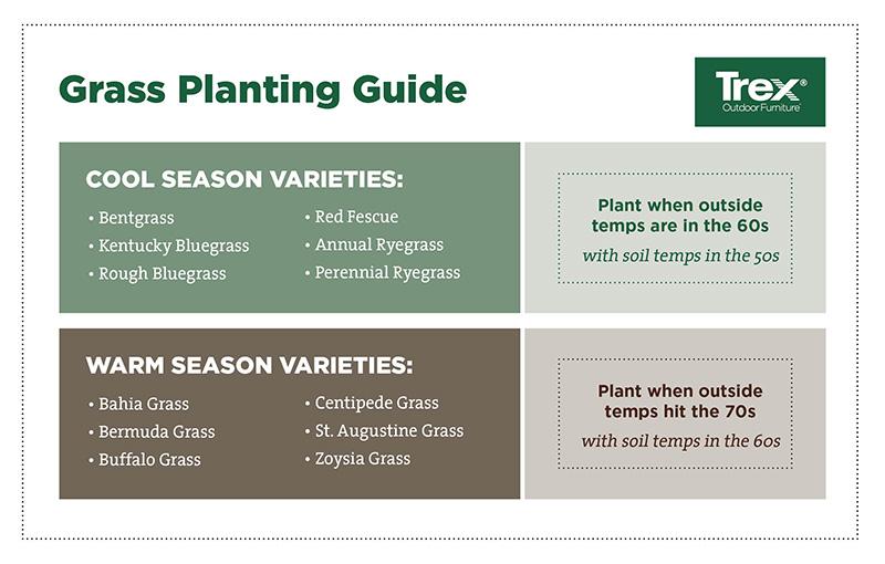 grass seed germination temperature chart