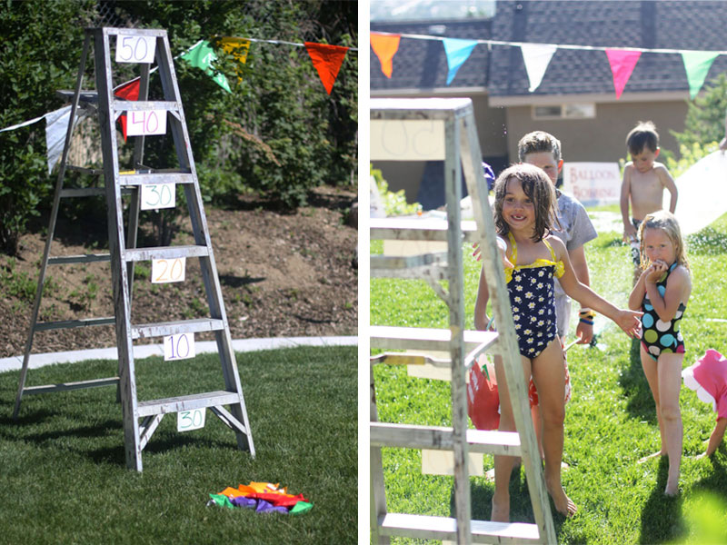 Landee from Landeelu organized an outdoor carnival event. Check out her full post for more fun outdoor ideas.