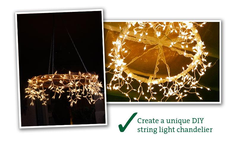String light chandelier living outdoors string light chandelier aloadofball Gallery