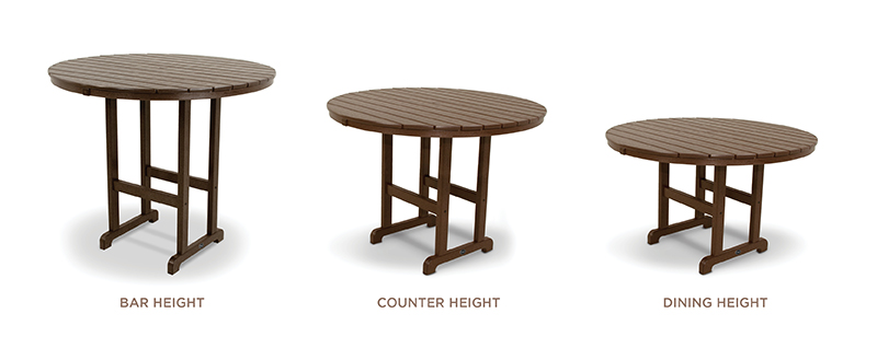 Trex Furniture Table Heights