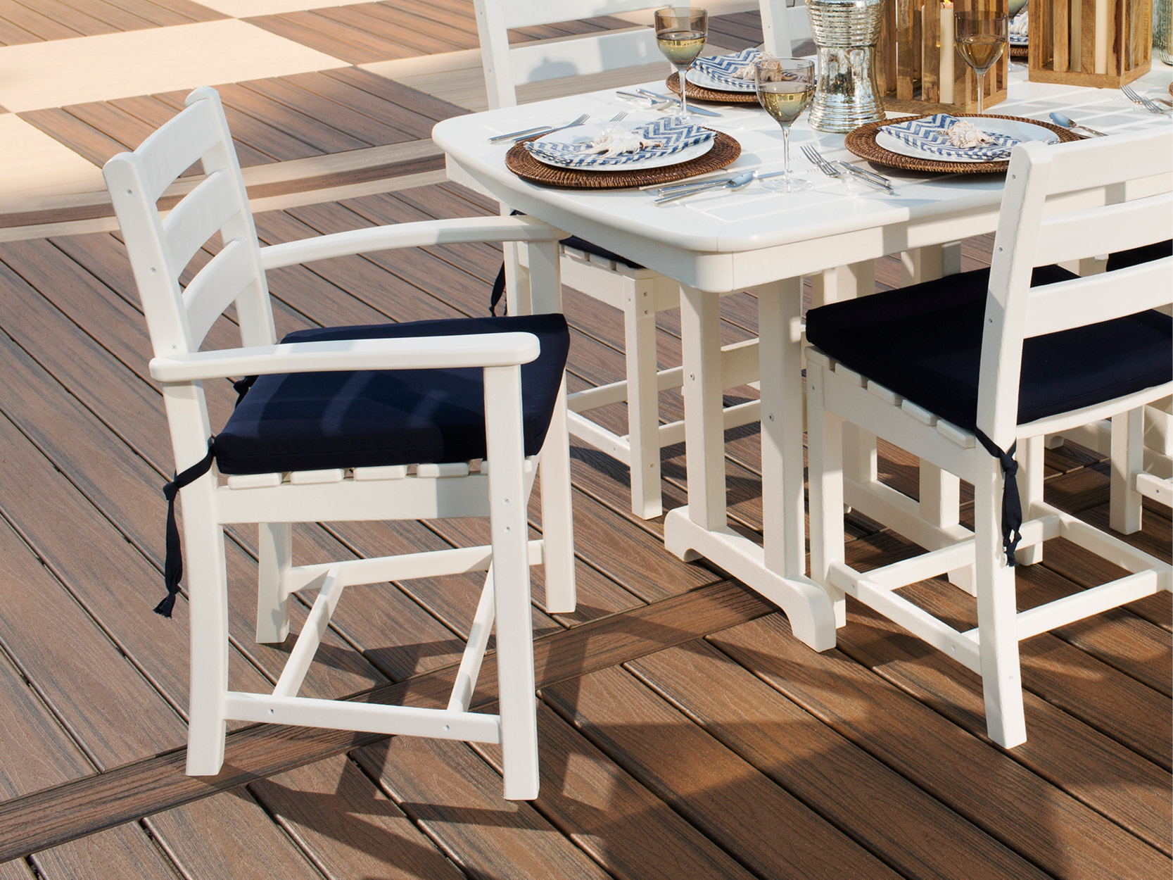 Monterey Bay 7-Piece Dining Set | Monterey Bay Dining Side Chair Seat Cushion