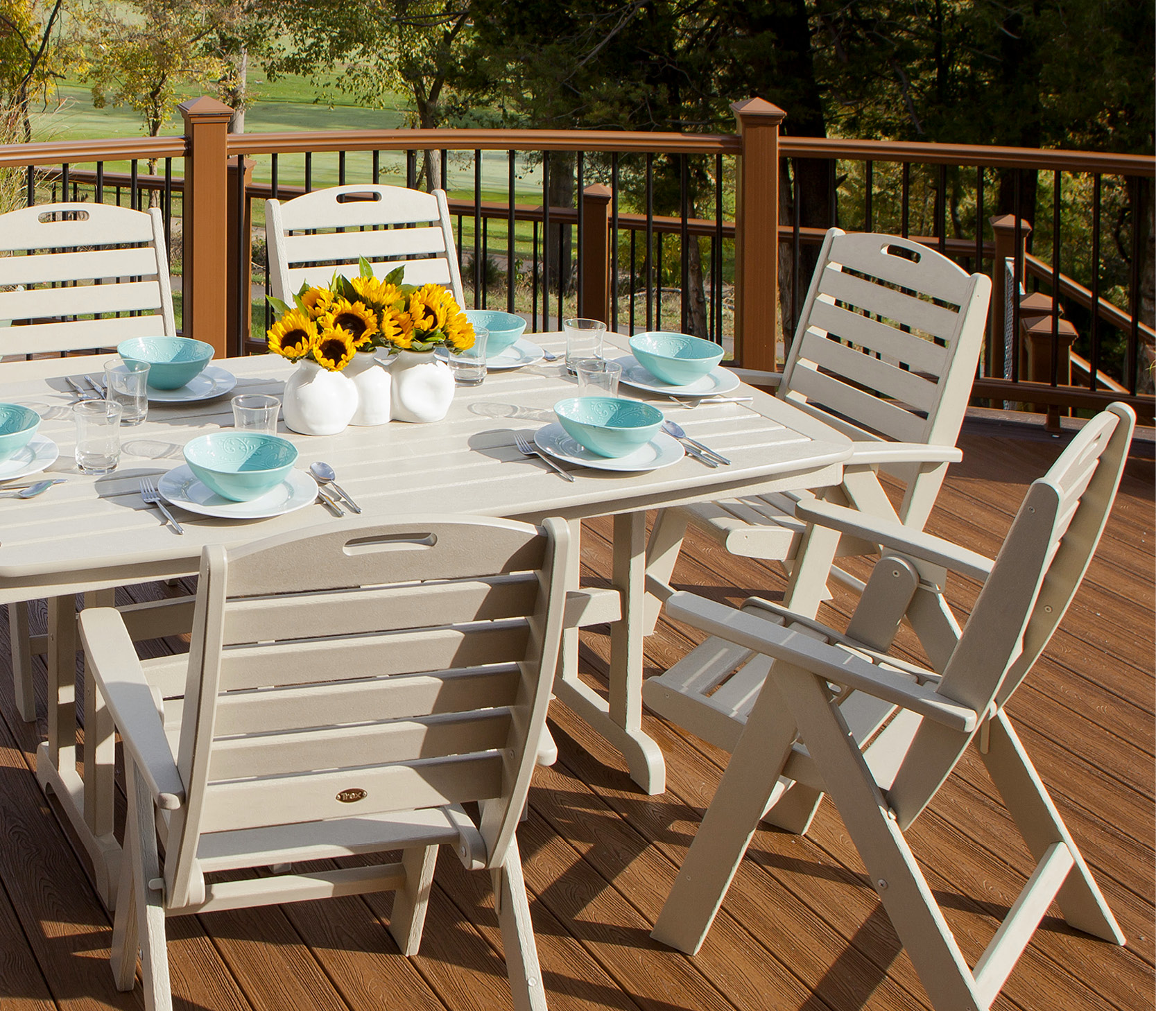 Yacht Club 7-Piece Highback Dining Set