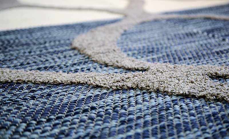 Close up of outdoor rug