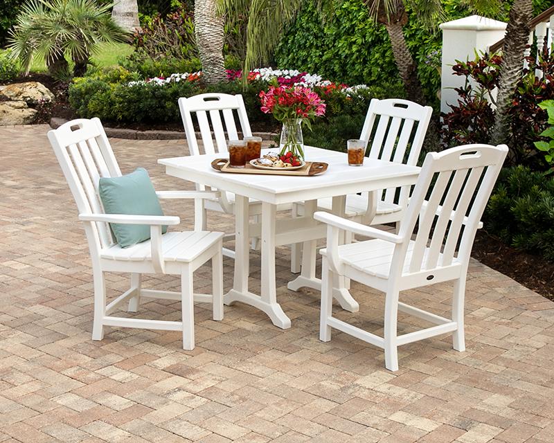 Yacht Club 5-Piece Farmhouse Arm Chair Dining Set